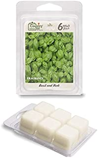 Country Jar Basil and HERB Scented Wax Melt Soy Tarts (6-Cube Pk) Sale! 20! Off 3 or More!