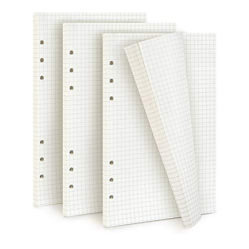 Diealles Shine 3 Packung Kariertes PapierA5, 135 Blätter 6 Löcher Nachfüllpapier Dot Grid Paper A5 für Notizbuch, Tagbuch, Skizze, Malerei, DIY