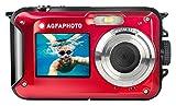 AGFA Photo WP8000 - Cámara de Fotos Digital Impermeable, 24 MP, Color Rojo