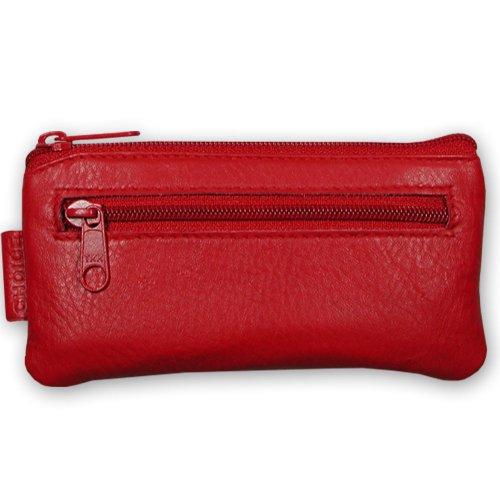 Sattler & Co. Schlüsseletui Echt Leder - Portemonnaie Damen Herren in Rot