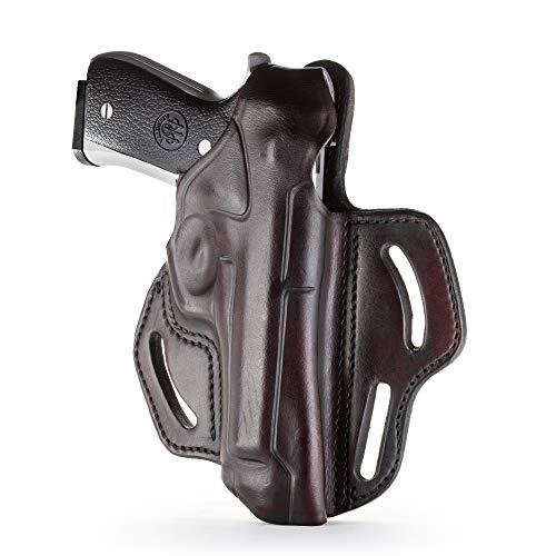 Best holster for beretta 92fs - 1791 - Beretta 92fs Thumb Break Holster - Right Handed OWB Leather Gun Holster - Fits Beretta 92FS, 90TWO, M9 / CZ 75,75b P07, P10, SP-01, P09 (BHX-4) (Signature Brown)