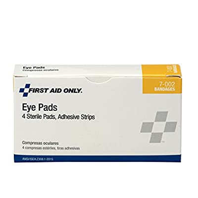 Pac-Kit by First Aid Only 7-002 8 Piece Eye Pad and Adhesive Strip Kit (Box of 4) by Pac-Kit