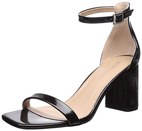 BCBGeneration Women's Talia Two Piece Sandal Heeled, Black, 6.5 M US