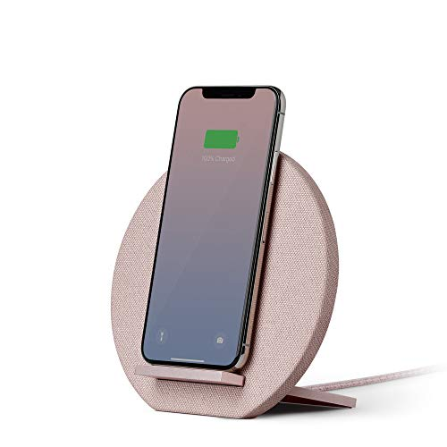Native Union Dock Cargador Inalámbrico - [Qi Certified] 10W Versátil Plataforma con Carga Rápida para Dispositivos Inalámbricos - Compatible con iPhone 11/11 Pro/ 11 Pro MAX (Rose)