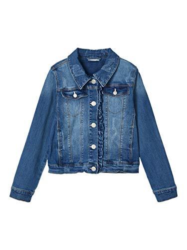 NAME IT Girl Jeansjacke Rüschen 152Medium Blue Denim