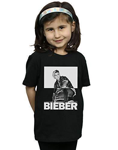 Justin Bieber Mädchen Split Contrast T-Shirt Schwarz 9-11 Years
