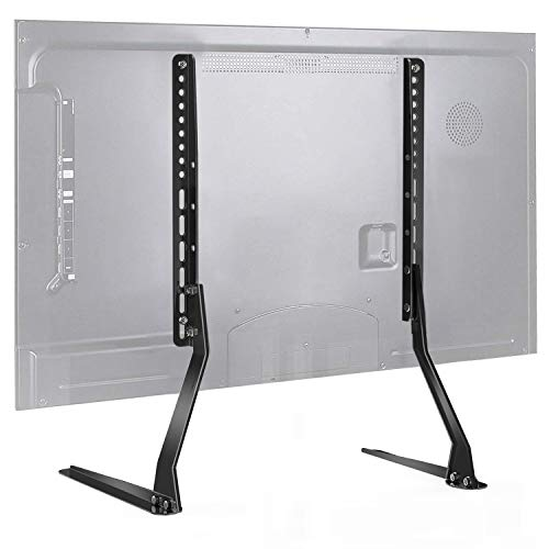 PERLESMITH Universal Table Top TV Stand for 37-70 Inch Flat Screen, LCD TVs Premium Height Adjustable Leg Base Stand Holds up to 110lbs, VESA up to 800x400mm (PSTVS01-1)
