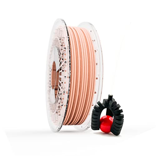 Filamento Elástico TPU FILAFLEX 60A PRO Dureza Shore/El más elástico (mejor que flexible)/Apto para los más expertos en impresión con flexibles en impresoras 3D (2.85 mm 500 gr. Nude)