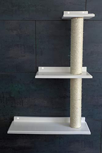 Jennys Tiershop Weiß! Handgefertigte Tiermöbel/Luxusmöbel, Katzenmöbel in Vielen Ausführungen, Dreifach-Plattform Links (457O)