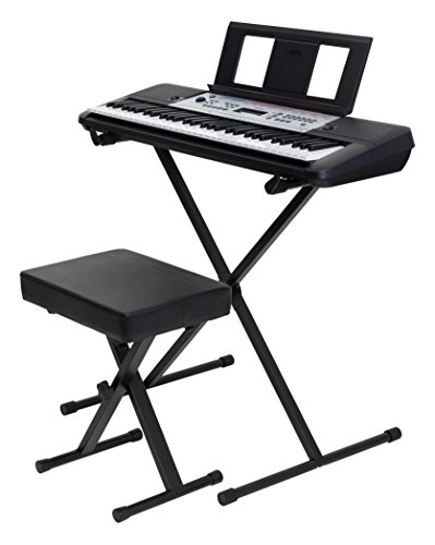 YAMAHA YPT-260 61-Key Portable Keyboard Bundle With Stand, Bench And Power Supply