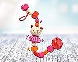 Selecta 61055 Kitti Katze, Schnullerkette, 21 cm, mehrfarbig