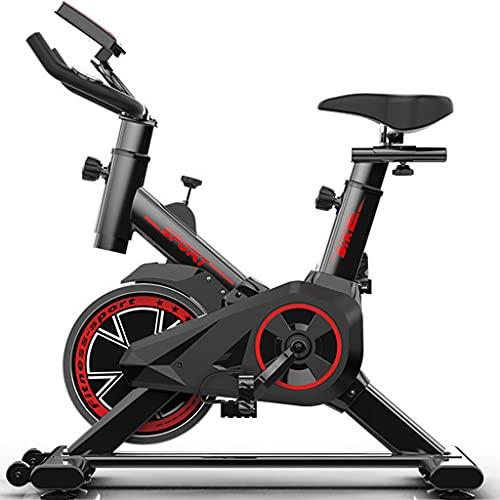 Sports equipment Bici de Spinning Profesional Indoor, Bici Entrenamiento Fitness - Bicicleta de Ejercicio Ajustable, Bicicleta con Monitor y cómodo cojín de Asiento