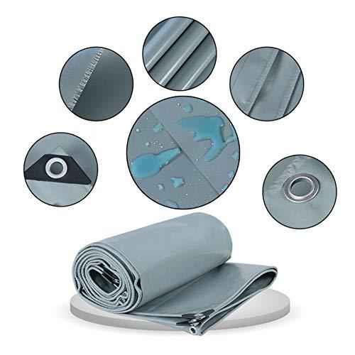 Herxy Lona Impermeable de PVC Resistente, Lona Gris con
