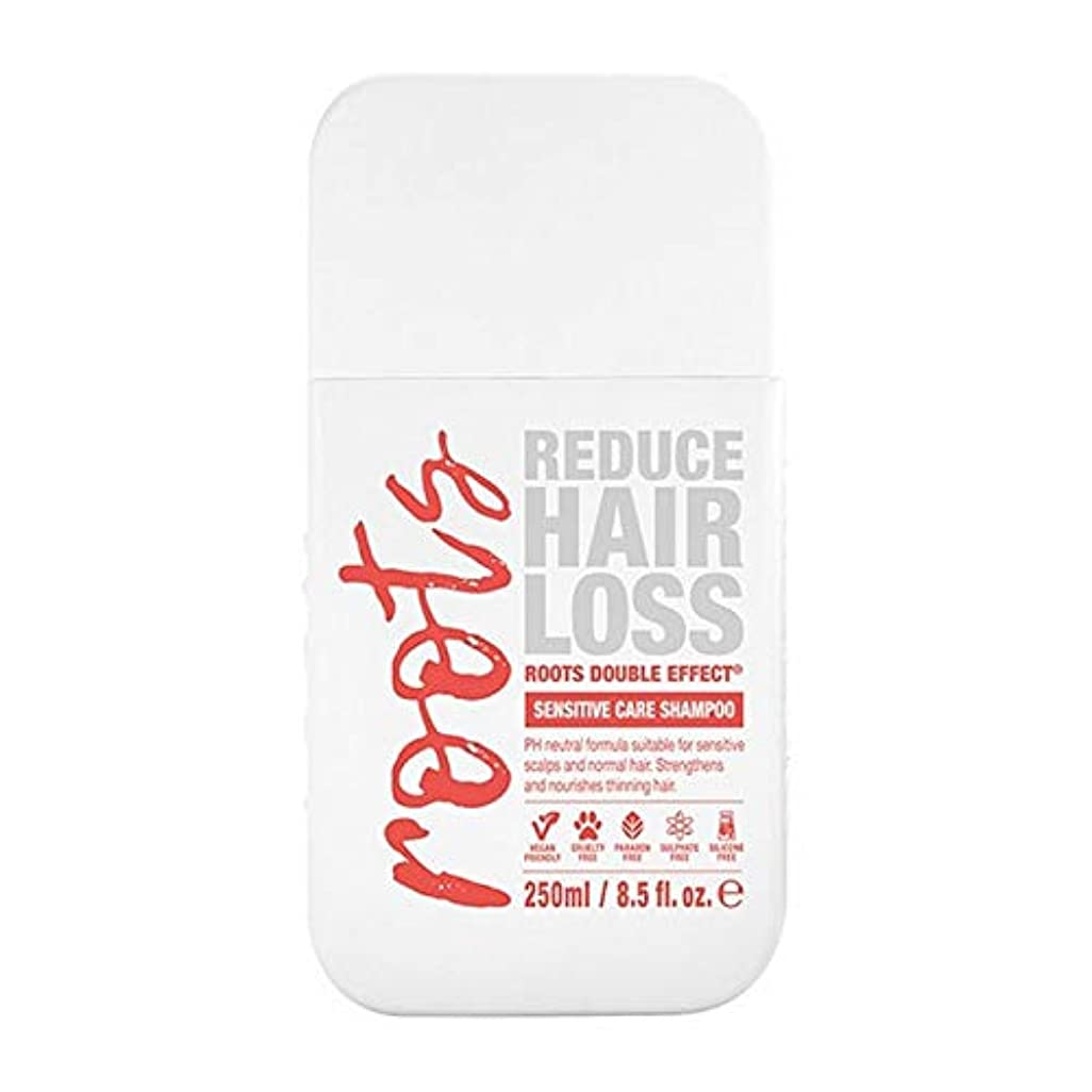 添付肥満満足[Roots ] 根のダブル効果に敏感なシャンプー250Ml - Roots Double Effect Sensitive Shampoo 250ml [並行輸入品]