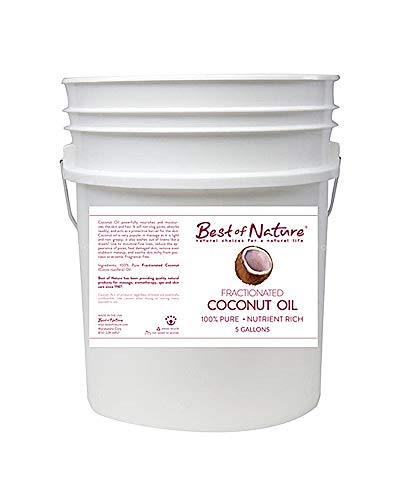 Buy Best of Nature 100% Pure Fractionated Coconut Massage & Body Oil (Five Gallon Pail)