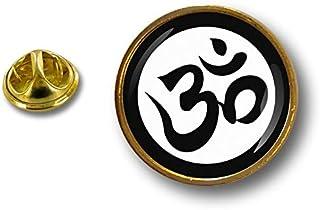 Akacha Spilla Pin pin's Spille spilletta Badge Biker Simbolo Ohm Om Yoga