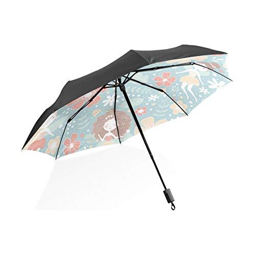 Golfschirme Für Regen Winddicht Mode Retro Charming Ältere Haarschnitt Tragbare Kompakte Taschenschirm Anti Uv Schutz Winddicht Outdoor Reise Frauen Regenschirm Kleine