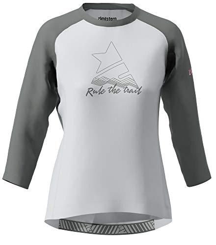 Zimtstern Damen PureFlowz Shirt 3/4 WMNS MTB, Glacier Grey/Gun Metal/Blush, L