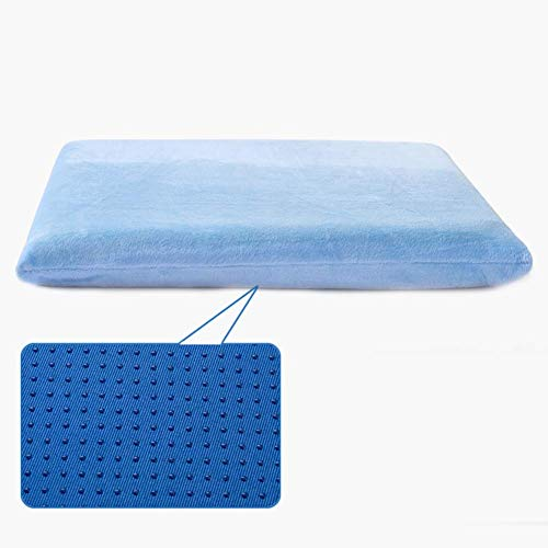 Comfortably Memory Foam Seat Cushion, Removable Square Anti Slip Velour Cover Comfort Portable Home Chair Cushions For Office Chair Car Seat-light Blue 45x45cm-have Rope