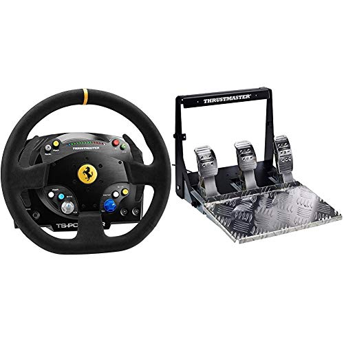 Thrustmaster Volante TS-PC Racer Ferrari 488 Challenge Edition (PC) + T3PA Pro 3 Pedals Add-On Classics [Importacion Italiana]