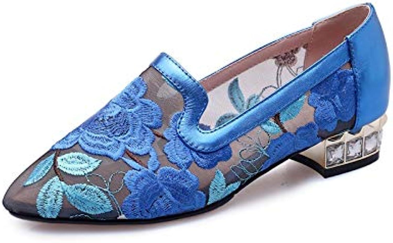 MENGLTX High Heels Sandalen 2019 Stil Frauen Pumpt Air Mesh  Echtes Leder Sommer Schuhe Spitz Kleid Schuhe Frau Prom Schuhe B07QLWCXW3  Aktuelle Form