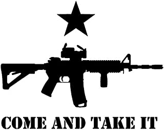 CMI DD001Come and Take It Texas Decal Sticker   7.5-Inches by 5.9-Inches   Premium Quality Black Vinyl