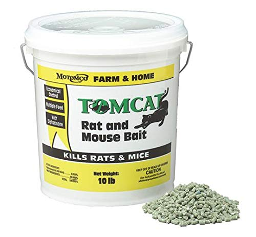 Motomco 008-32345 Tomcat Rat and Mouse Bait Pellet, 10 lb