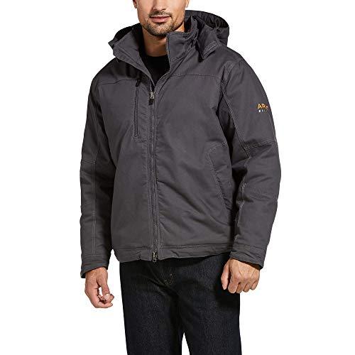 ARIAT - Chaqueta de trabajo con capucha para hombre, color gris Rebar Max Move - gris - Large