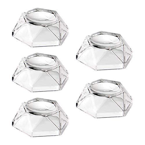 (5pcs)Soporte De ExhibicióN De Bola De Cristal, Base De ExhibicióN De Bola De Cristal Transparente AcríLico, Soporte De ExhibicióN Hexagonal Para Bola De Cristal/Esfera Transparente De Galaxias (M)