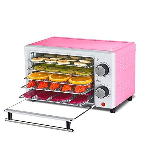 YYBF JerkyDörrgerät, Obst Fleisch- und Früchte-Trockner 300 Watt 35-70°C 5 spülmaschinenfeste Ablagegitter, Kurze Trockenzeit Gewindeknopf