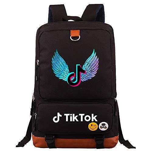 Traveling Backpack Campus Laptop Backpack Boy Camping Backpack Food Rucksack 45cm*30cm*15cm Black