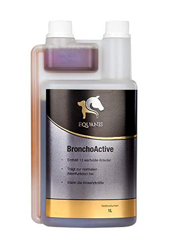 Equanis BronchoActive - Bronchialkräuter für Pferde. Spezielle Hustenkräuter reinigen die Bronchien, stärken das Immunsystem und lindern den Husten bei Erkältung