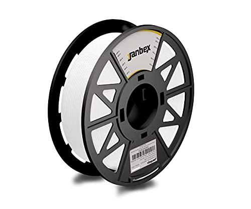 JANBEX Pla Filament 1.75 mm | 1kg Spule in Weiß | für 3D Drucker oder Stift | 3D-Drucker Zubehör | 1,75 mm Fillament auf der Rolle | Druck Fillamentum | verschiedene Farben | Printer