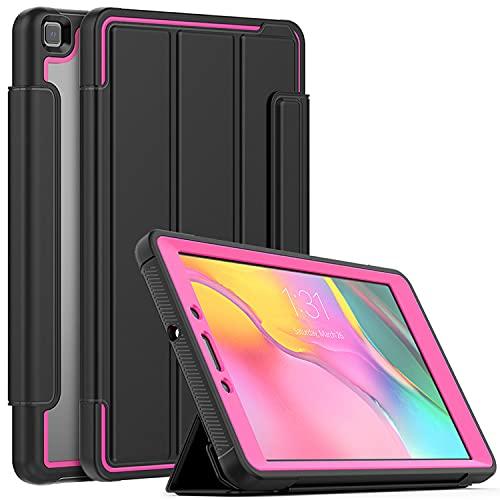 LGQ Funda Protectora para iPad Pro 12,9', Carcasa Protectora con Soporte Triple, Reposo/Activación Automático, Adecuado para iPad Pro 12,9' 2021 2020 2018 5/4/ 3 Generación,Rose Red