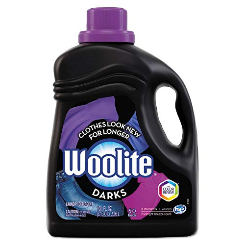 Darks Liquid Laundry Detergent, 66 Loads, 100oz, Regular & HE Washers, Dark & Black Clothes & Jeans, Midnight Breeze Scent, Packaging May Vary (66 Loads, 4-Pack)
