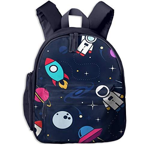 Mochilas Infantiles, Bolsa Mochila Niño Mochila Bebe Guarderia Mochila Escolar con Astronauta Espacial para Niños de 3 A 6 Años de Edad