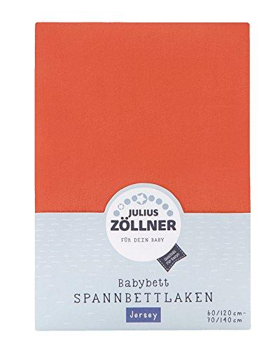 Julius Zöllner 8320147710–Sábana bajera ajustable para cama el Niño, Coral rojo