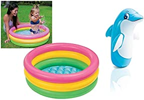 Intex Inflatable Kids Bath Tub-3Ft,Multicolor