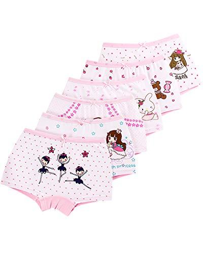 Adorel Adorel Mädchen Unterhosen Pantys Baumwolle 6er-Pack Prinzessin 116-122 (Herstellergröße 130)