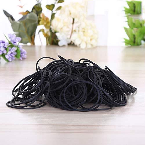 Wwtte Black Gummi-Band-Papierrechnungen Dollar Geld-elastische Dehnbare Bands, 1kg für Tasche/M.