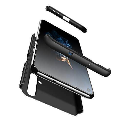 JMstore Funda Compatible con Huawei Honor 20/Nova 5T,Carcasa Móvil Protección 3 en 1 Desmontable con Protector Pantalla Carcasa PC Hard Cover Negro