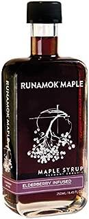 Runamok Maple, Elderberry Infused Organic Vermont Maple Syrup, 8.45 Ounce, 250mL