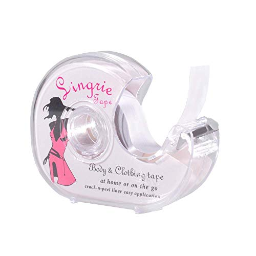 GLAMORAS Women's Double Sided Fashion Tape for Bra/Lingerie/Dresses/Clothing Tape for Skin with Dispenser (5m/16.4Ft/Roll)
