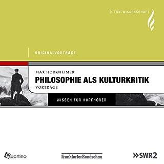 Philosophie als Kulturkritik Titelbild