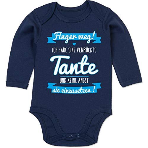 Preisvergleich Produktbild Shirtracer Sprüche Baby - Ich Habe eine verrückte Tante Blau - 12 / 18 Monate - Navy Blau - Body ich Habe eine verrückte Tante - BZ30 - Baby Body Langarm