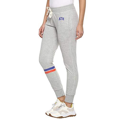 Alan Jones Clothing Women's Slim Fit Trackpant (WM20-JOG-P07-LGREY-M_Light Grey_Medium)