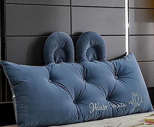 Cojines de cabecera, Cojines de apoyo lumbar, Cojines de cuña triangular, Cojines de posición de respaldo, Cojines lumbares para sofás de oficina de cama, 2,100x55x20cm