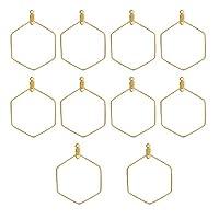 DROLE ステンレススチール フープイヤリング ファインディングイヤリング 部品 DIY作成用 ゴールドカラー Hexagon ゴールド 116O1238IMWNXVA177