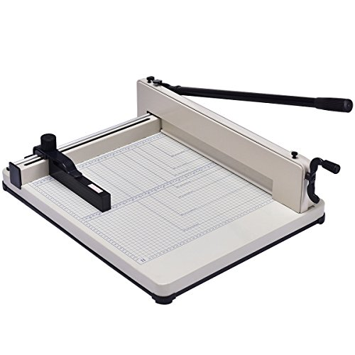 Giantex 17'' Guillotine Paper Cutter, Heavy Duty A3 Trimmer Machine with Commercial Metal Base and 400 Sheet Large Capacity for Home and Office, Paper Trimmer