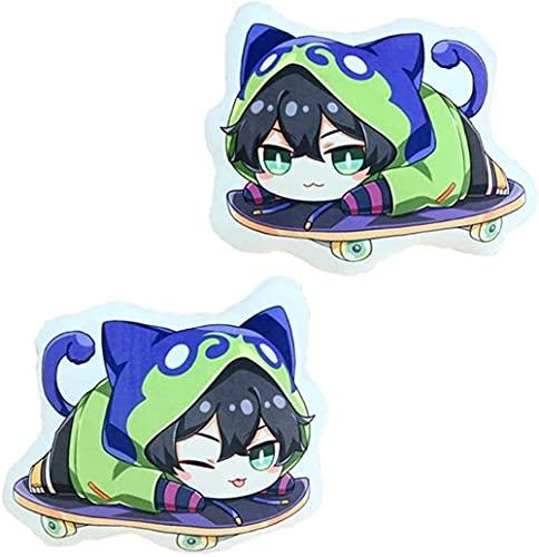 YYOUXIUU Anime SK8 The Infinity Hug Cushion Cute Little Stuffed Animal Throw Plushie Doll Chinen Kyan Reki2 Animal Props for Game Fans Gift 35cm/48cm (Miya,13.77in)
